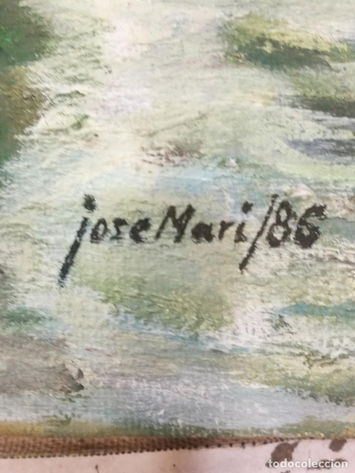 Arte: Oleo de barcos amarrados firmado josemari 86 - Foto 5 - 110956779