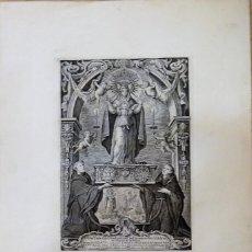Arte: ESPECTACULAR GRABADO DE NTRA.SRA. DE ITRIA, CONVENTO AGUSTINOS, PALMA DE MALLORCA, LEER MEDIDAS. Lote 111089031