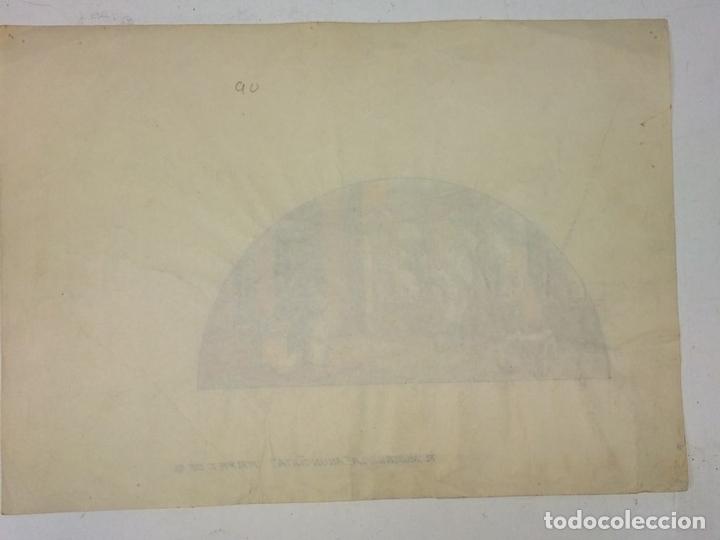 Arte: LA ANUNCIACIÓN. ACUARELA SOBRE PAPEL. FIRMADO GORGUES. ESPAÑA. 1980 - Foto 5 - 111094967