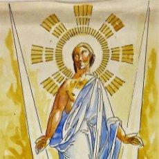 Arte: LA RESURRECCIÓN DE CRISTO. ACUARELA SOBRE PAPEL. ATRIB. GORGUES. ESPAÑA. CIRCA 1950. Lote 111102563
