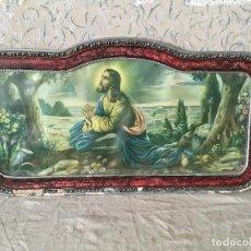 Arte: MUY ANTIGUO CUADRO DE CRISTO ORANDO EN EL HUERTO. CABECERO DE CAMA.. Lote 111180555