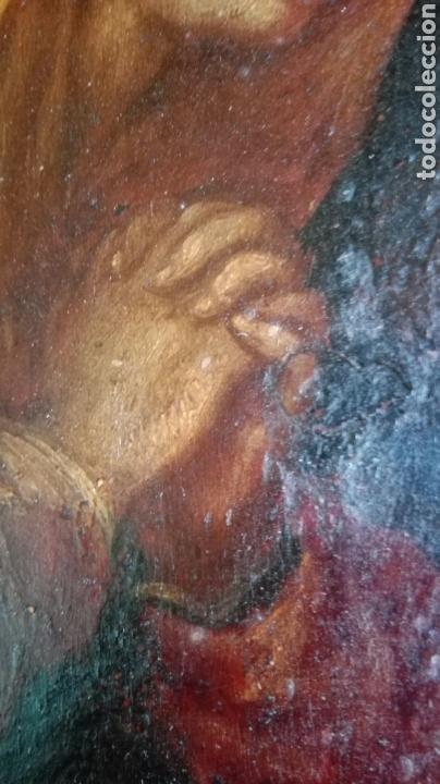 Arte: Virgen dolorosa s.XVIII? Nuevas fotos ver oleo tabla 35cmx30cm - Foto 5 - 96751728