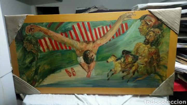 CRISTO CRUCIFICADO (Arte - Arte Religioso - Pintura Religiosa - Oleo)