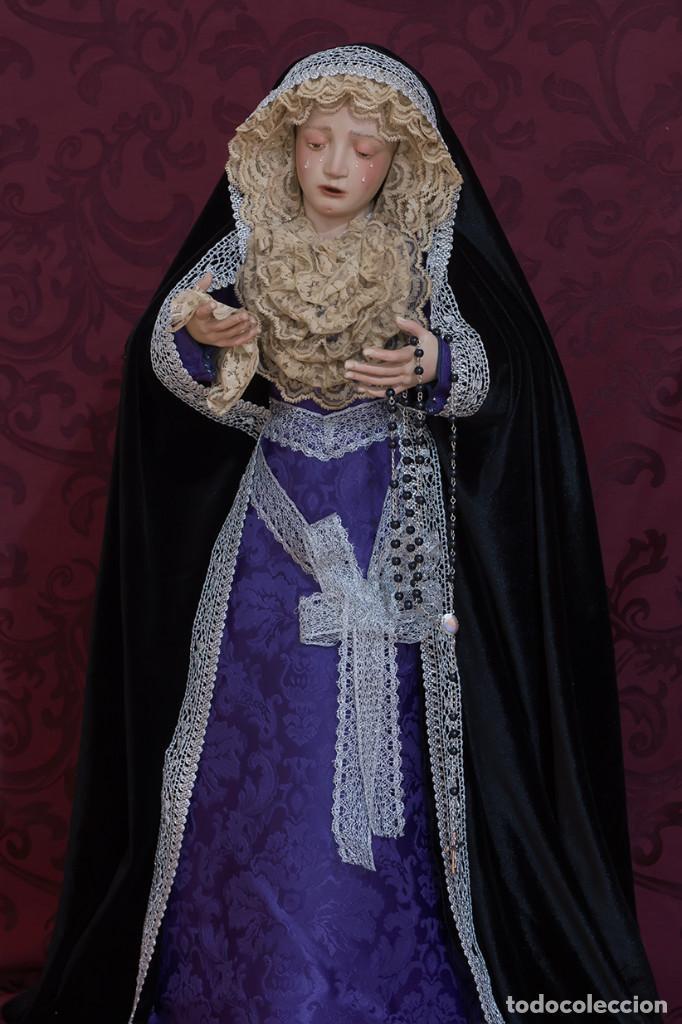 Arte: Virgen Dolorosa de 70 ctm de candelero magnificamente vestida - Foto 2 - 111326627