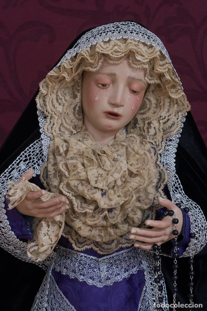 Arte: Virgen Dolorosa de 70 ctm de candelero magnificamente vestida - Foto 3 - 111326627