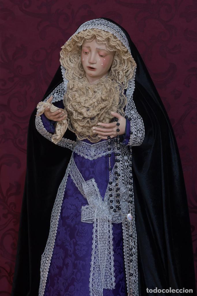 Arte: Virgen Dolorosa de 70 ctm de candelero magnificamente vestida - Foto 4 - 111326627