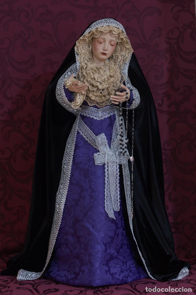 Arte: Virgen Dolorosa de 70 ctm de candelero magnificamente vestida - Foto 6 - 111326627