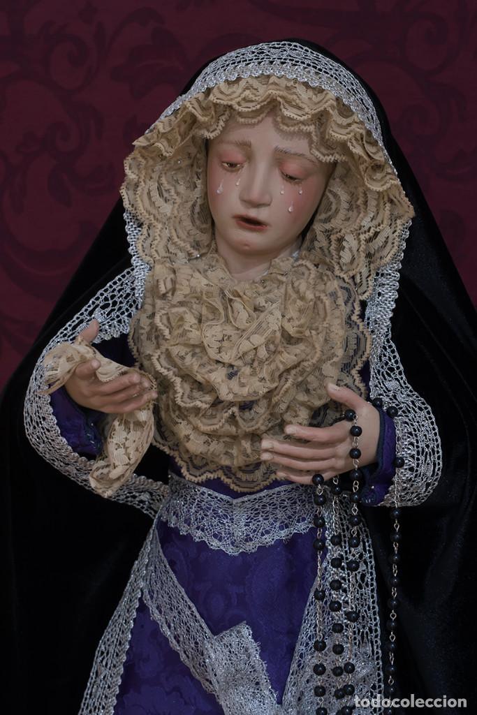 Arte: Virgen Dolorosa de 70 ctm de candelero magnificamente vestida - Foto 7 - 111326627