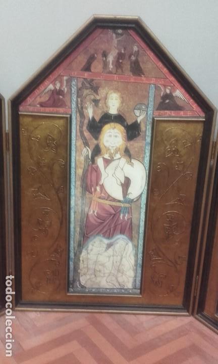 Arte: Gran tríptico de inspiración románica / 1 metro de altura - Foto 4 - 194653890