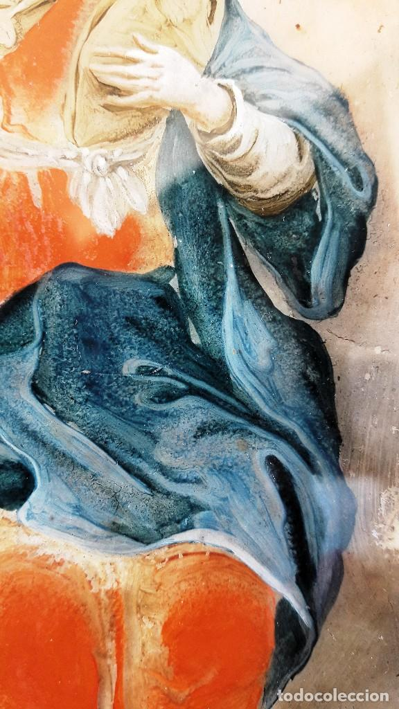 Arte: Pintura sobre vidrio del siglo XVIII - Foto 3 - 111379435
