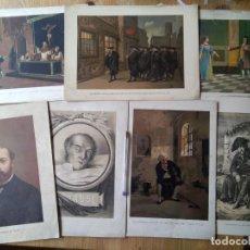 Arte: Q333-LOTE COLECCION 7 ANTIGUAS LÁMINAS SIGLO XIX,BUEN ESTADO,ALGUNA CORTECITO,VEAN IMAGENES CLARAS.I. Lote 111494335