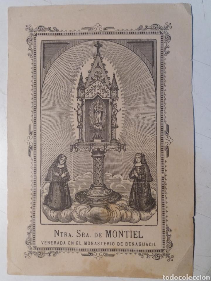 BENAGUACIL NTRA. SRA. DE. MONTIEL. (Arte - Arte Religioso - Litografías)
