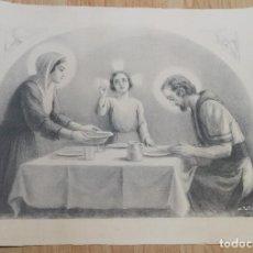 Arte: LITOGRAFIA AL CARBONCILLO,46X37 CM. PINTOR CATALAN A. UTRILLO,1867-1944. Lote 111534399