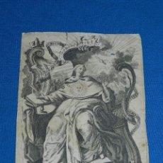 Arte: (ALB) GRABADO RELIGIOSO - DOMINGO MORISCO INVEN ET DELIN , HYPOLITO RICARTE , GRABADO DEL SXVIII. Lote 111615263
