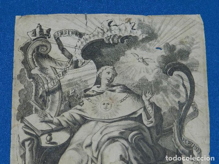 Arte: (ALB) GRABADO RELIGIOSO - DOMINGO MORISCO INVEN ET DELIN , HYPOLITO RICARTE , GRABADO DEL SXVIII - Foto 2 - 111615263