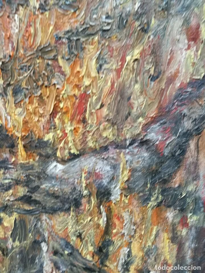 Arte: Oleo de una hoguera firmado cuervo 92 - Foto 5 - 111699615