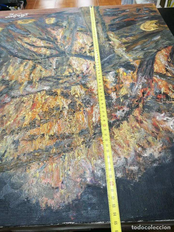 Arte: Oleo de una hoguera firmado cuervo 92 - Foto 7 - 111699615