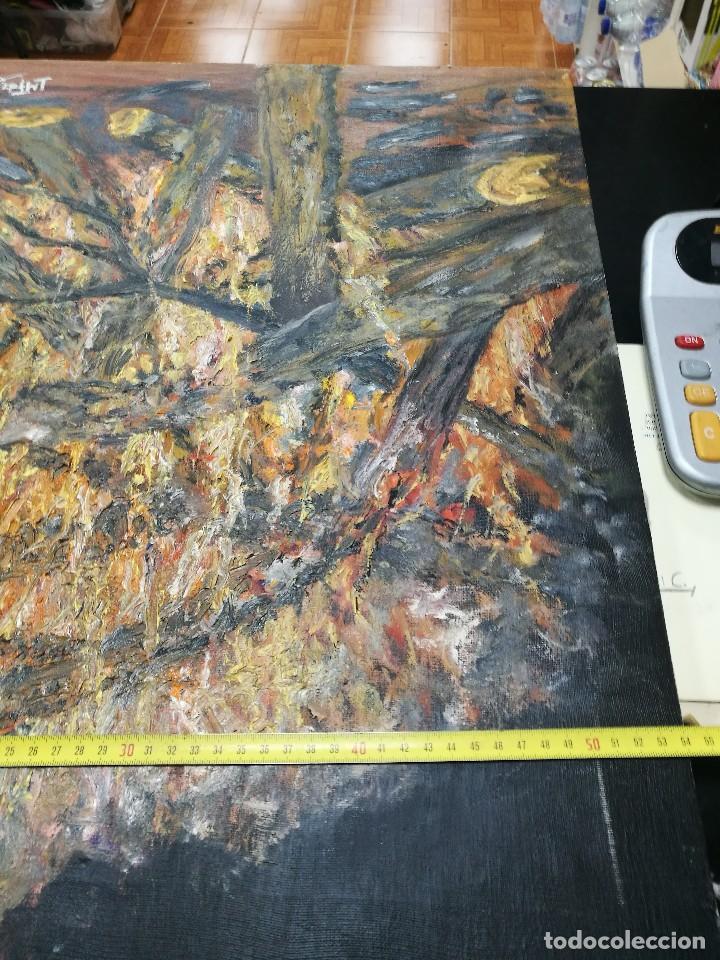 Arte: Oleo de una hoguera firmado cuervo 92 - Foto 8 - 111699615