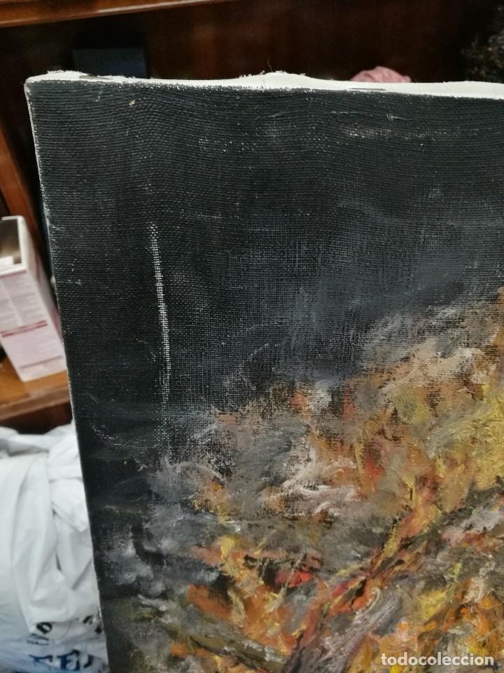 Arte: Oleo de una hoguera firmado cuervo 92 - Foto 9 - 111699615