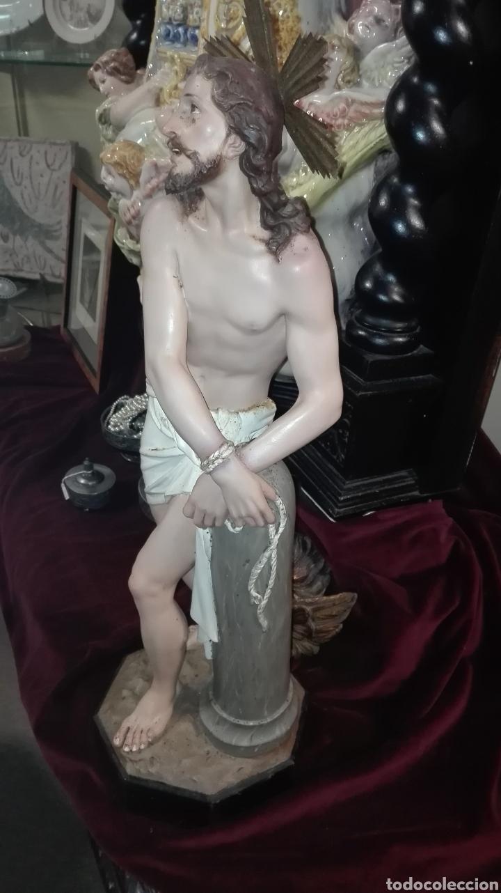 Arte: Preciosa Escultura Cristo Atado a la Columna - Arte Cristiano Olot - - Foto 3 - 111715967