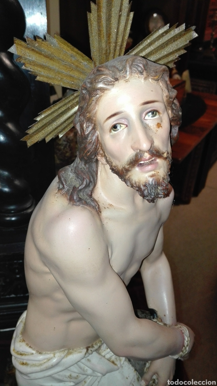 Arte: Preciosa Escultura Cristo Atado a la Columna - Arte Cristiano Olot - - Foto 4 - 111715967