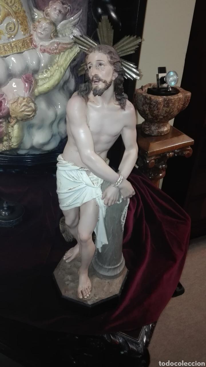 Arte: Preciosa Escultura Cristo Atado a la Columna - Arte Cristiano Olot - - Foto 5 - 111715967