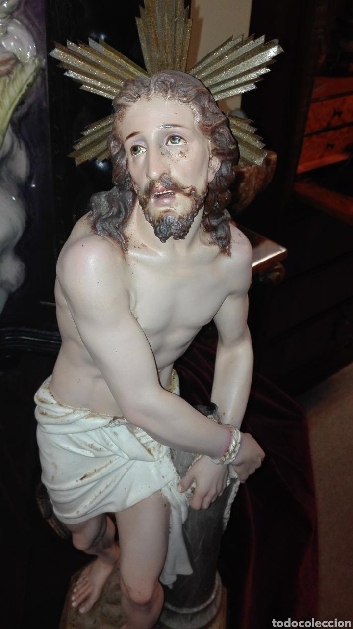 Arte: Preciosa Escultura Cristo Atado a la Columna - Arte Cristiano Olot - - Foto 6 - 111715967