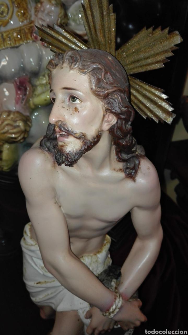 Arte: Preciosa Escultura Cristo Atado a la Columna - Arte Cristiano Olot - - Foto 12 - 111715967