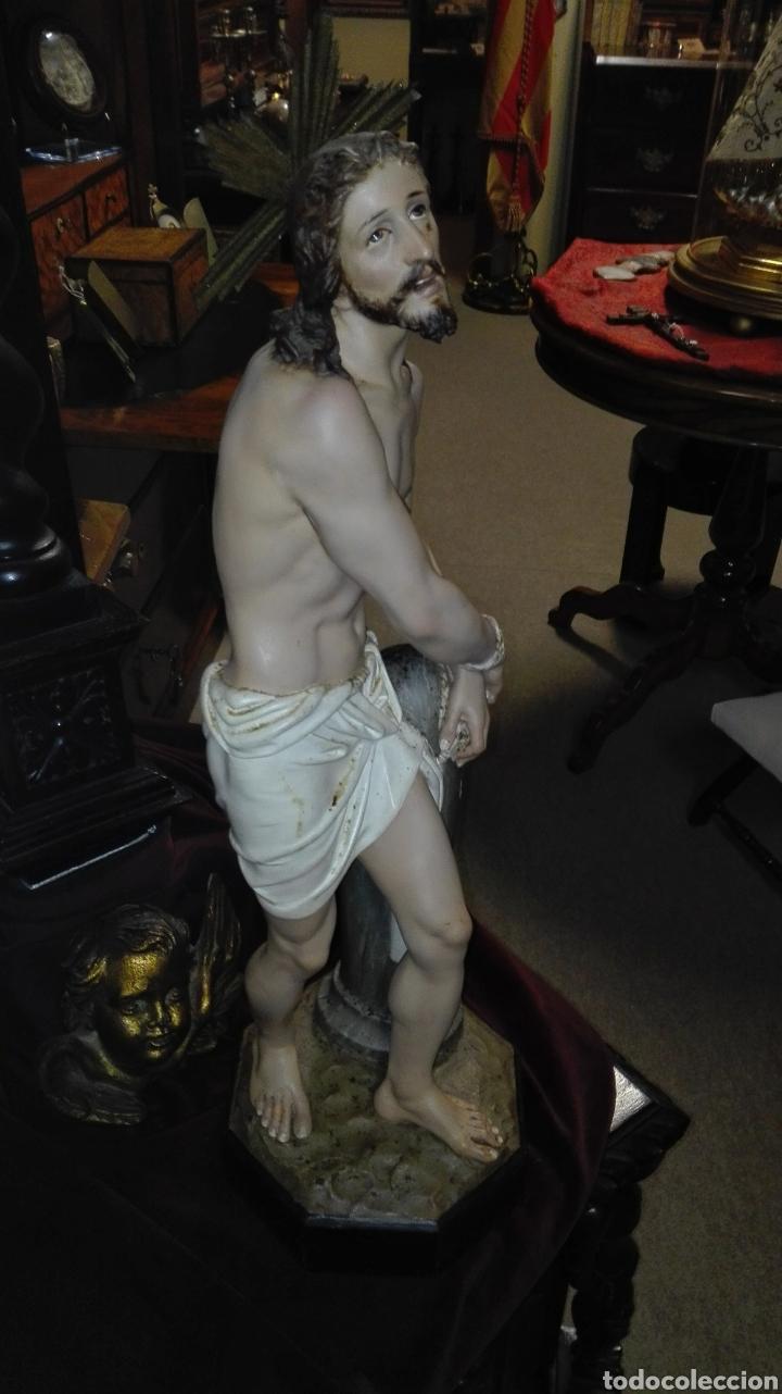 Arte: Preciosa Escultura Cristo Atado a la Columna - Arte Cristiano Olot - - Foto 14 - 111715967