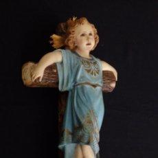 Arte - Niño pasionario en estuco policromado. Olot. 31 cm. Pps. S. XX. - 111820579