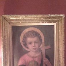 Arte: NIÑO JESÚS COMO SALVATOR MUNDI / ANTIGUA CROMOLITOGRAFIA. Lote 111904835