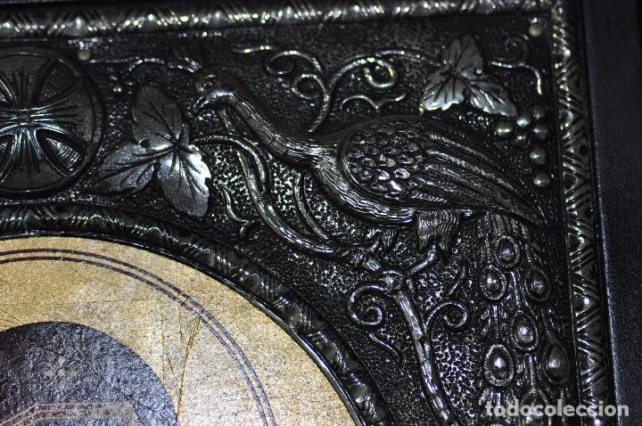 Arte: ICONO BIZANTINO PINTADO A MANO Y PLATA CONTRASTADA 950 - Foto 5 - 111914743