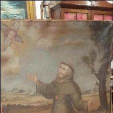 Arte: ESCUELA ESPAÑOLA PINTURA SIGLO XVII SAN FRANCISCO CON EL HERMANO LEON OLEO SOBRE LIENZO. Lote 111945411