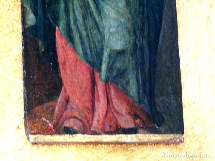 Arte: Pintura Virgen con Niño, Pintura Religiosa, Óleo sobre Tabla, Niño de la Bola, Siglo XVI, España - Foto 5 - 112076703