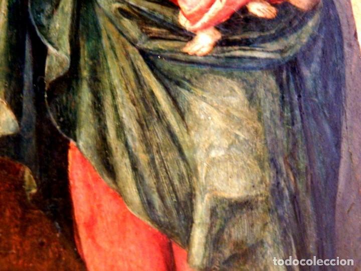 Arte: Pintura Virgen con Niño, Pintura Religiosa, Óleo sobre Tabla, Niño de la Bola, Siglo XVI, España - Foto 6 - 112076703