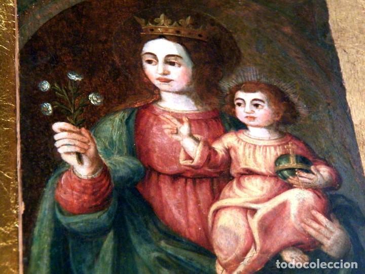 Arte: Pintura Virgen con Niño, Pintura Religiosa, Óleo sobre Tabla, Niño de la Bola, Siglo XVI, España - Foto 7 - 112076703