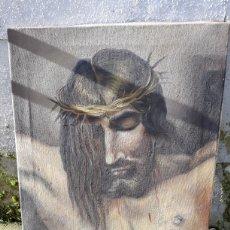 Arte: ÓLEO JESÚS CRISTO FIRMADO. Lote 112105122