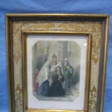 Arte: ANTIGUA LITOGRAFIA IRLANDA. LA MONJA. EN GRAVEDAD BY E. FINDEN. Lote 112163851