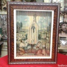 Arte: TRIPTICO CUADRO ANTIGUO , VIRGEN DE FATIMA, SANTA TERESA DE JESUS Y SAN ANTONIO CON EL NIÑO JESUS. Lote 112263859