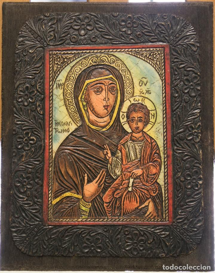 ICONO RELIGIOSO DE LA VIRGEN CON EL NIÑO (Arte - Arte Religioso - Iconos)