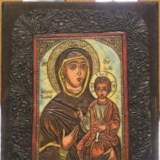 Arte: ICONO RELIGIOSO DE LA VIRGEN CON EL NIÑO. Lote 112306523