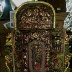 Arte: RETABLO DE LA VIRGEN MARIA CON NIÑO Y LA VIRGEN INMACULADA 1 METRO 20 PIEZA UNICA UNA DE UNA. Lote 112337791