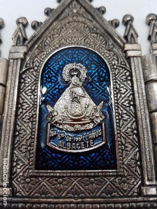 Arte: Tríptico antiguo en metal plateado de Nuestra Señora de los llantos de estilo gótico, Albacete - Foto 5 - 112397759