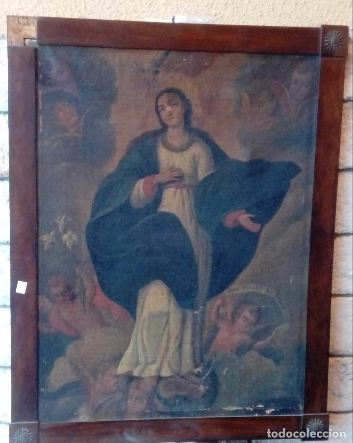 ESCUELA ESPAÑOLA SIGLO XIX INMACULADA (Arte - Arte Religioso - Pintura Religiosa - Oleo)
