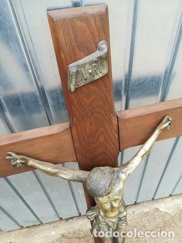 Arte: CRUCIFIJO - CRUZ JESUS JESUCRISTO INRI - Foto 2 - 112470687