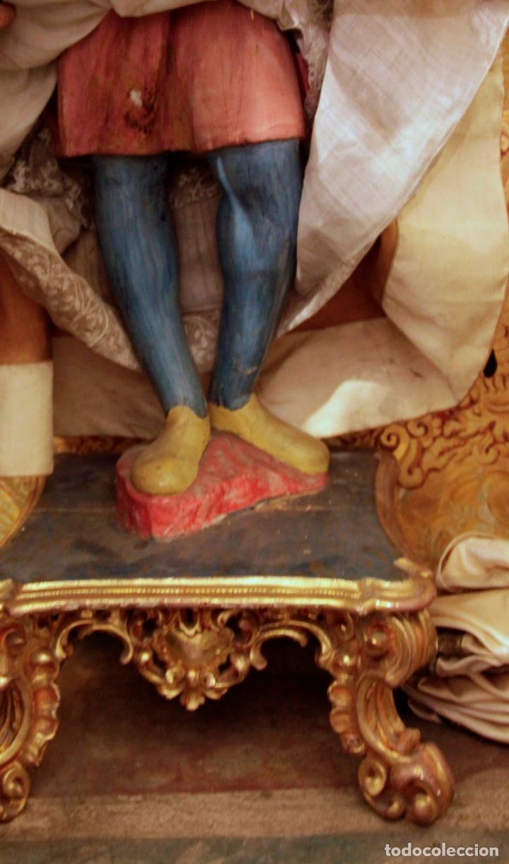 Arte: Extraordinaria virgen del carmen con niño finales siglo XVIII de gran tamaño. - Foto 6 - 112504187