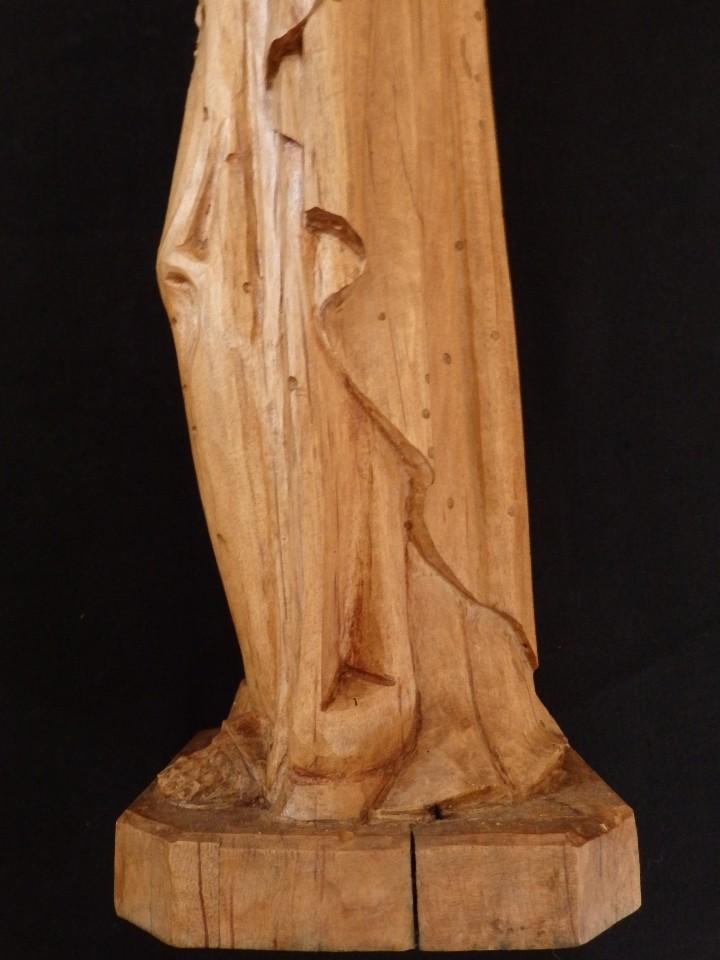 Arte: San José con el Niño Jesús. Madera tallada y parcialmente policromada. 40 cm. Pps. S. XX. - Foto 10 - 112570347