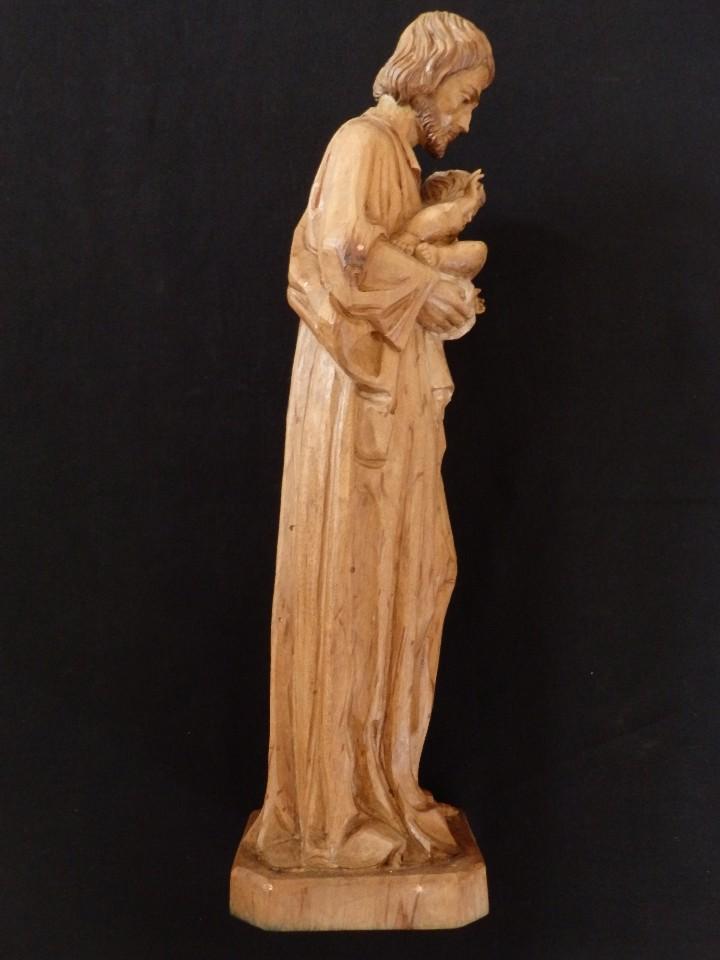 Arte: San José con el Niño Jesús. Madera tallada y parcialmente policromada. 40 cm. Pps. S. XX. - Foto 11 - 112570347