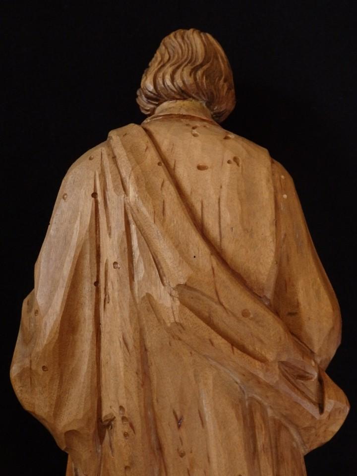Arte: San José con el Niño Jesús. Madera tallada y parcialmente policromada. 40 cm. Pps. S. XX. - Foto 15 - 112570347