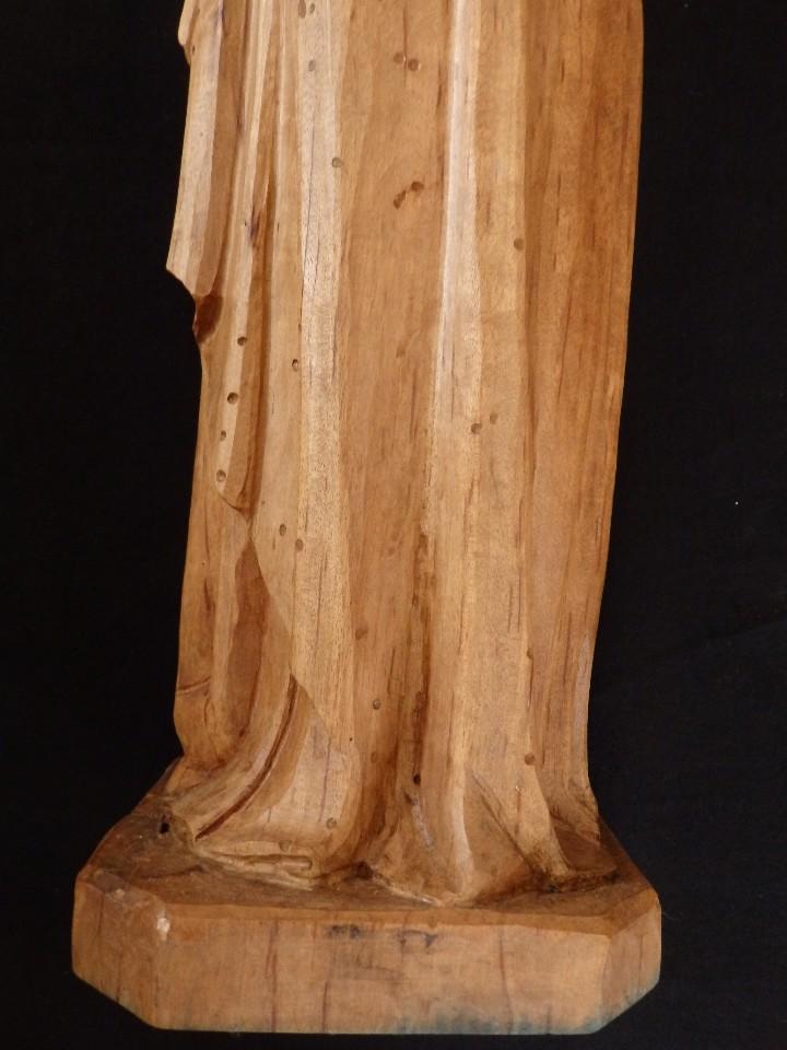 Arte: San José con el Niño Jesús. Madera tallada y parcialmente policromada. 40 cm. Pps. S. XX. - Foto 16 - 112570347